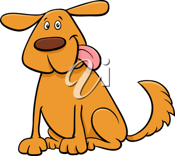 Cartoon Illustration of Funny Dog Pet Animal Character