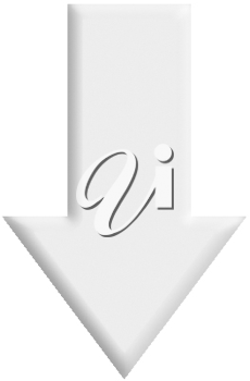 Royalty Free Clipart Image of an Arrow Pointing Down