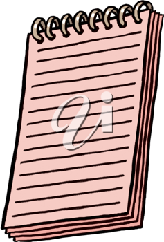 Royalty Free Clipart Image of a Notebook
