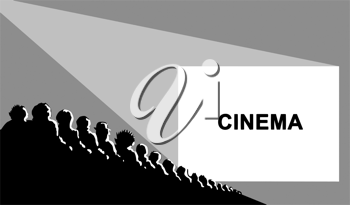 Royalty Free Clipart Image of a Cinema