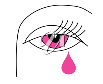Royalty Free Clipart Image of a Woman Crying
