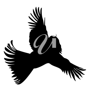 Royalty Free Clipart Image of an Abstract Bird