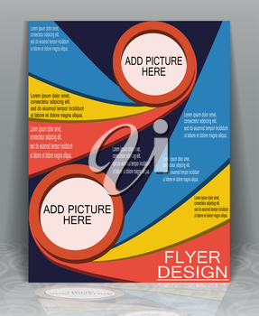 Well organized brochure print template your business, EPS10 - vector graphics.