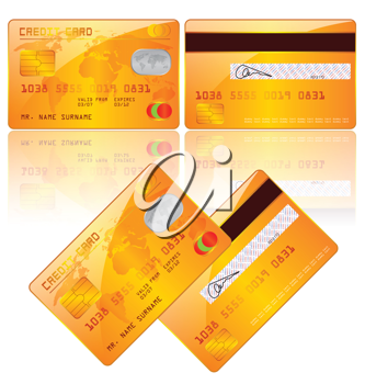 Royalty Free Clipart Image of Credit Cards