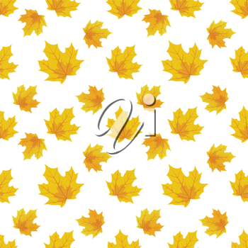 Royalty Free Clipart Image of an Autumn Leaf Background