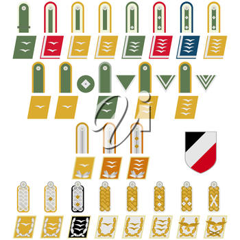 Insignia in the Armed Forces of Nazi Germany. The illustration on a white background.