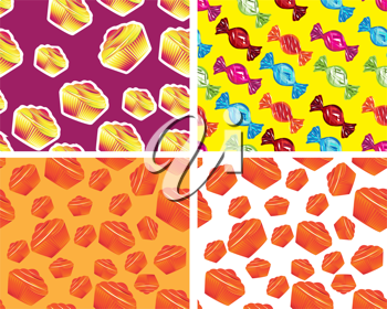 Royalty Free Clipart Image of Food Backgrounds