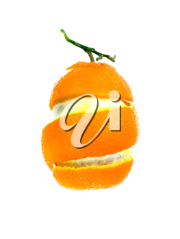 Royalty Free Photo of an Orange Peel