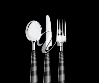 Royalty Free Photo of a Knife, Fork and Spoon
