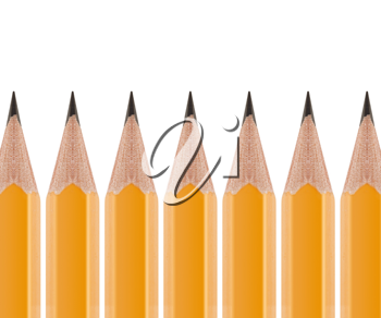 Royalty Free Photo of a Row of Sharpened Pencils