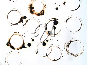 Coffee stains and splatters design  for grunge design.