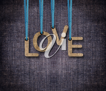 Royalty Free Clipart Image of Love on a Background