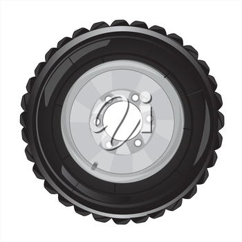 The New wheel of the car with protector.Vector illustration