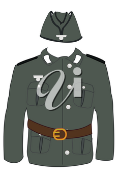 Form of the german soldier of the timeses of the second world war