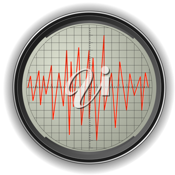 Royalty Free Clipart Image of an Oscilloscope