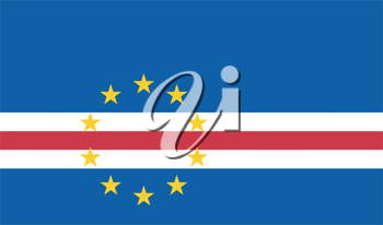 Vector illustration of the flag of  Cape Verde