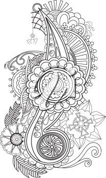 Vector handmade Ukrainian ornament