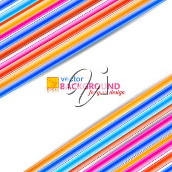 Bright abstract background with diagonal frame in the form of wires. Vector illustration