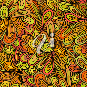 Bright seamless texture with flowers. Vector illustration.