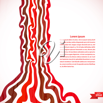 Fantastic background with red stripes. Vector illustration.