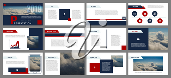 Business backgrounds of digital technology. Clouds blurred elements for presentation templates. Leaflet, Annual report, cover design. Banner, brochure, layout, design. Flyer. Vector illustration