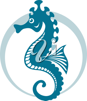 Royalty Free Clipart Image of a Seahorse
