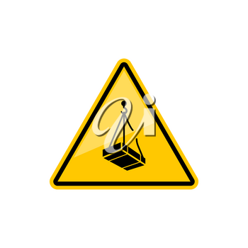 Warning triangle sign forbidden to stand under load isolated caution symbol. Vector do not pass under scaffolding, stay out from under suspended loads. Construction sign on building area, prohibition