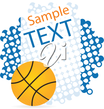 Royalty Free Clipart Image of a Basketball Background