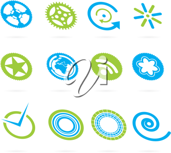Royalty Free Clipart Image of a Set of Elements