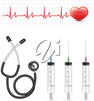 Royalty Free Clipart Image of Healthcare Elements