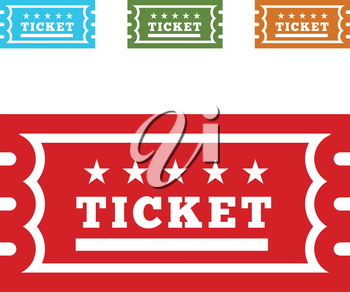 Vector Vintage Ticket Icon on white background
