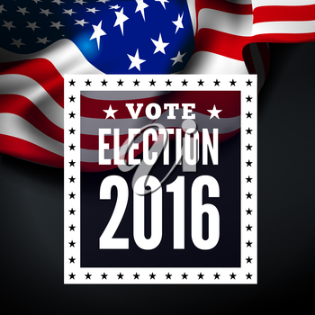Presidential election in USA. Vector illustration with flag