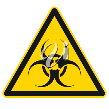 Biohazard sign vector illustration