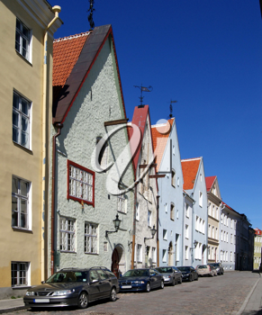 Royalty Free Photo of Buildings in a Historical Part of Tallinn Estonia
