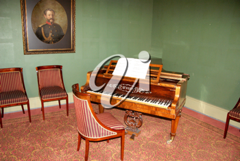 Royalty Free Photo of a Room With a Harpsichord