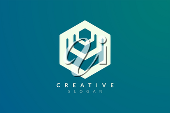 Hexagon Design creation. Modern minimalist and elegant vector illustration. Suitable for patterns, labels, brands, icons or logos