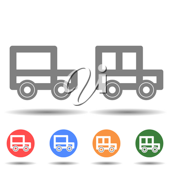 Truck car icon vector logo isolated on background