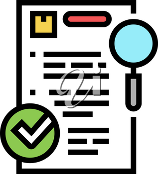requisition review color icon vector. requisition review sign. isolated symbol illustration
