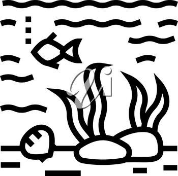 hydrosphere ecosystem line icon vector. hydrosphere ecosystem sign. isolated contour symbol black illustration
