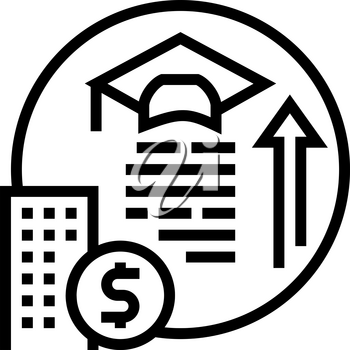 training and courses benefits line icon vector. training and courses benefits sign. isolated contour symbol black illustration