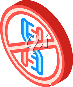 dna crossed out mark isometric icon vector. dna crossed out mark sign. isolated symbol illustration