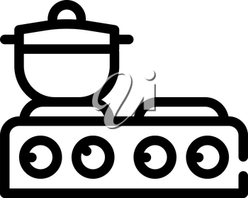 table stoves line icon vector. table stoves sign. isolated contour symbol black illustration