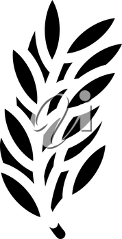rosemary leaves glyph icon vector. rosemary leaves sign. isolated contour symbol black illustration