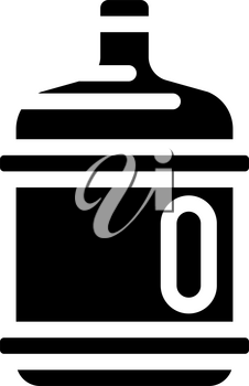 water plastic bottle glyph icon vector. water plastic bottle sign. isolated contour symbol black illustration