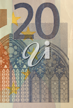Royalty Free Photo of a Close-up of Euros