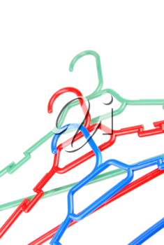 Royalty Free Photo of Colorful Hangers