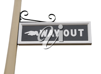Royalty Free Photo of a Way Out Sign