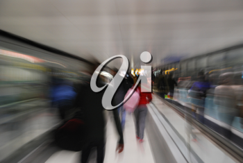 Royalty Free Photo of Passengers in Motion