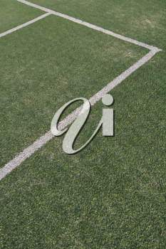 Royalty Free Photo of an Outdoor Tennis Court