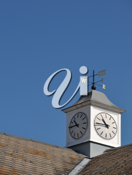 Royalty Free Photo of a Clock Tower on a Building in Gloucester, England